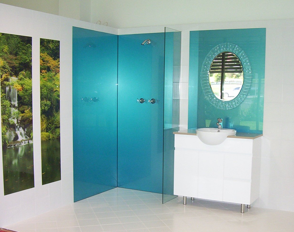 Blue And Green Bathroom Ideas Acrylic Splashbacks For Showers And Bathrooms