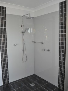 Acrylic Shower painted in Milton Moon
