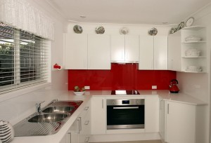 Lipstick Red Kitchen