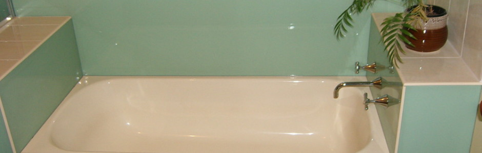 If you have old tiles and you want to freshen up your Bathrooom - Acrylic Splashbacks are ideal