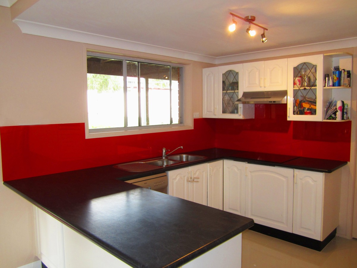 Red Kitchen Wall Tiles In Newcastle