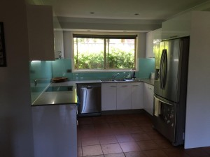 After painted Acrylic Splashback