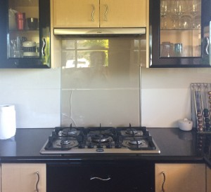 Before cracked glass Splashback