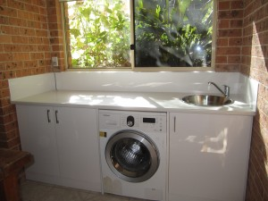 Laundry Splashback in White