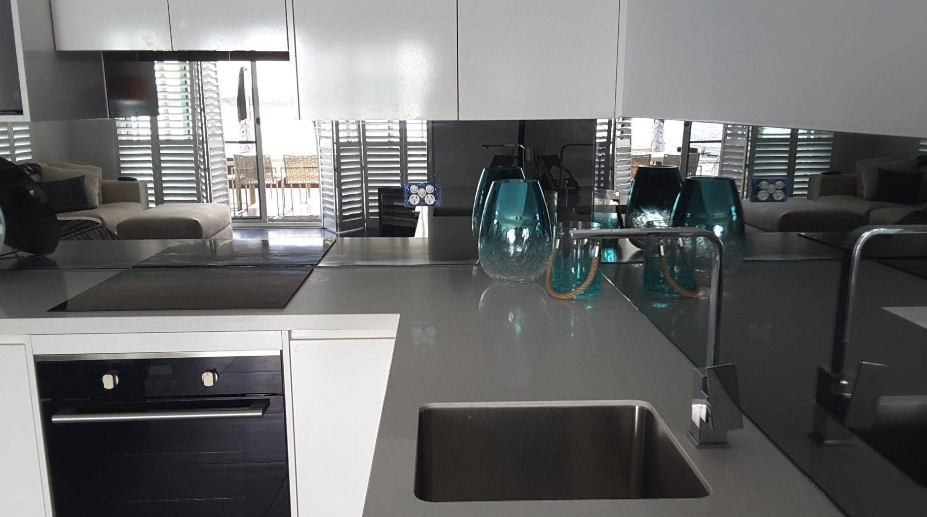 Black Splashback Kitchen Kitchen Splashback Mirror Ozzie Splash