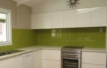 Chartreuse Metallic with a straight Range hood