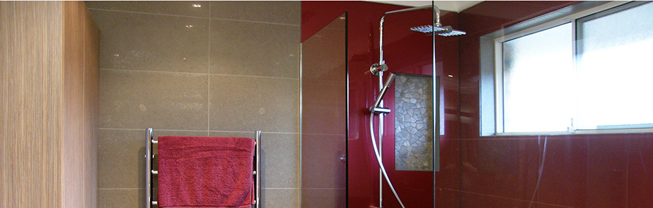 Acrylic shower wall | Shanghai red
