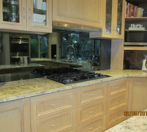 Splashback in Silver Mirror