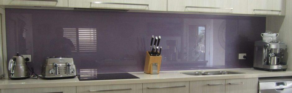 """Glass Kitchen Splashback """" Amethyst """""""
