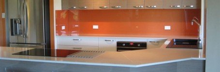 A Beautiful and easy to clean Acrylic Splashback in Orange Delish (1)