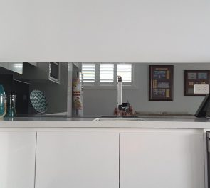 Black Silver Mirror Splashback