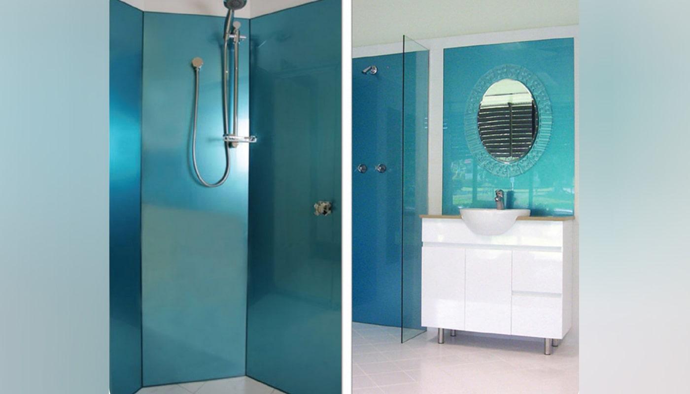 bathroom and shower splashback in acrylic